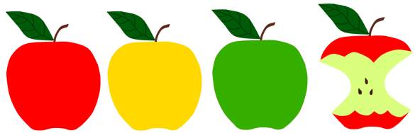 Red, Green, Yellow Apples for Apple Storytime