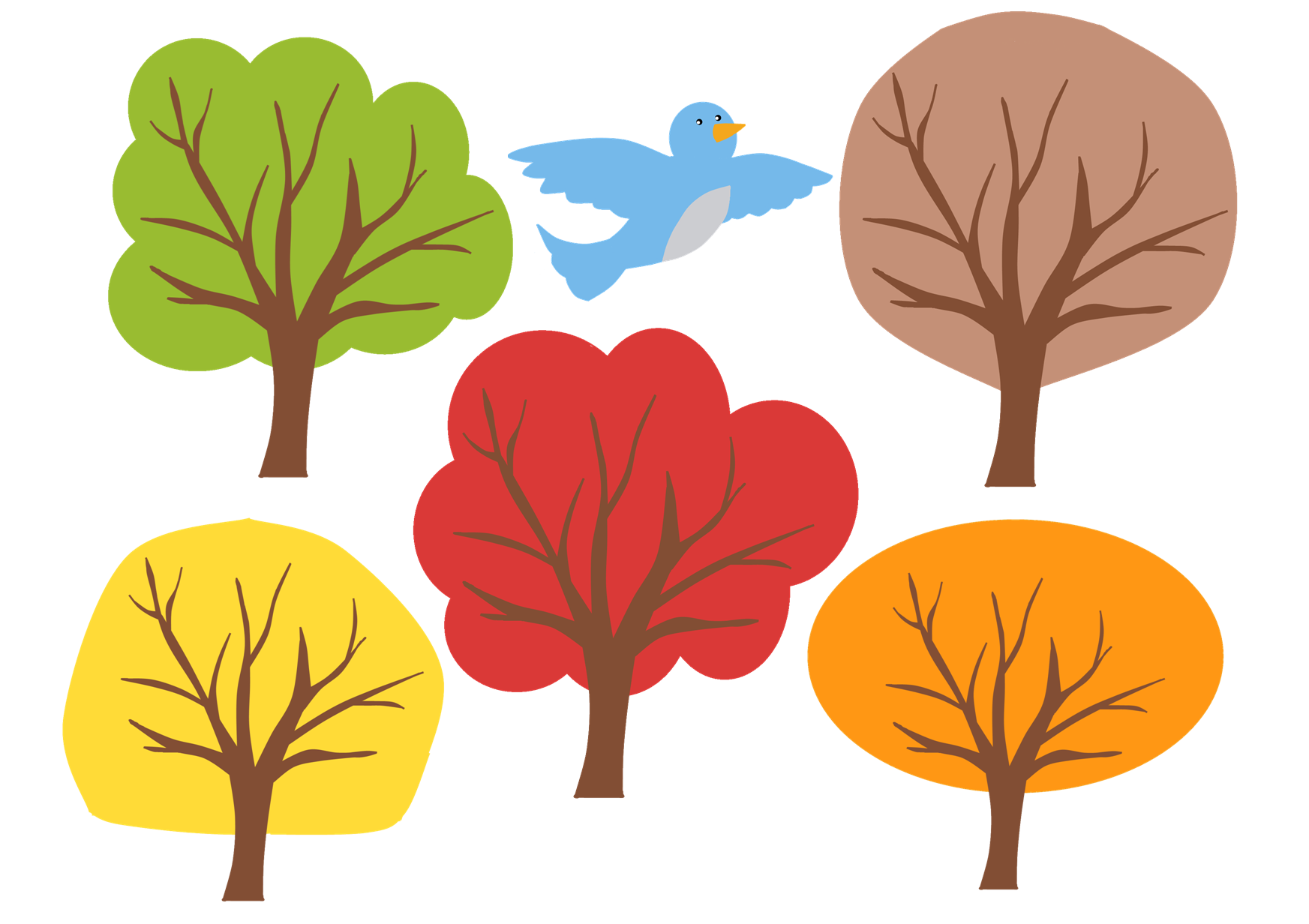image about Printable Tree referred to as Slide Trees Printable Sunflower Storytime