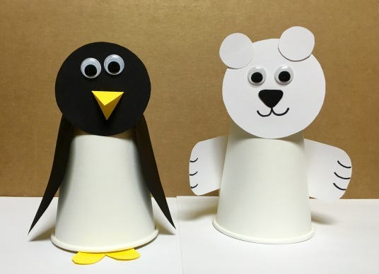 Polar Bear and Penguin Craft from Sunflower Storytime