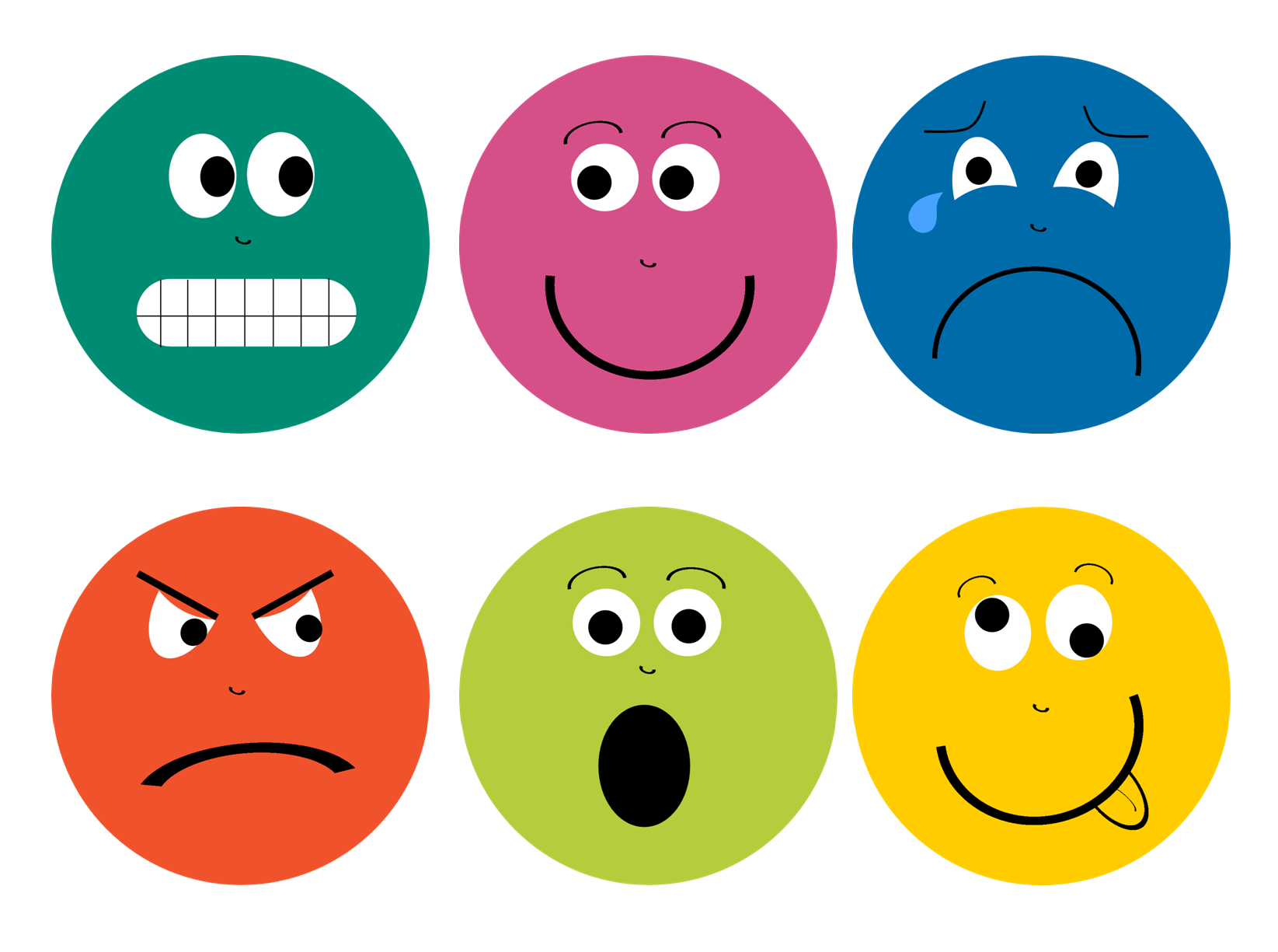 Clever image within printable emotions