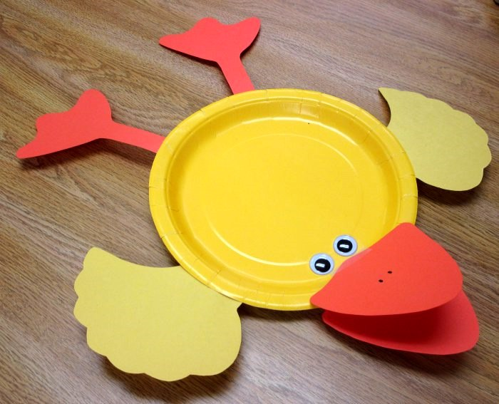 Print Take Home Craft Paper Plate Duck