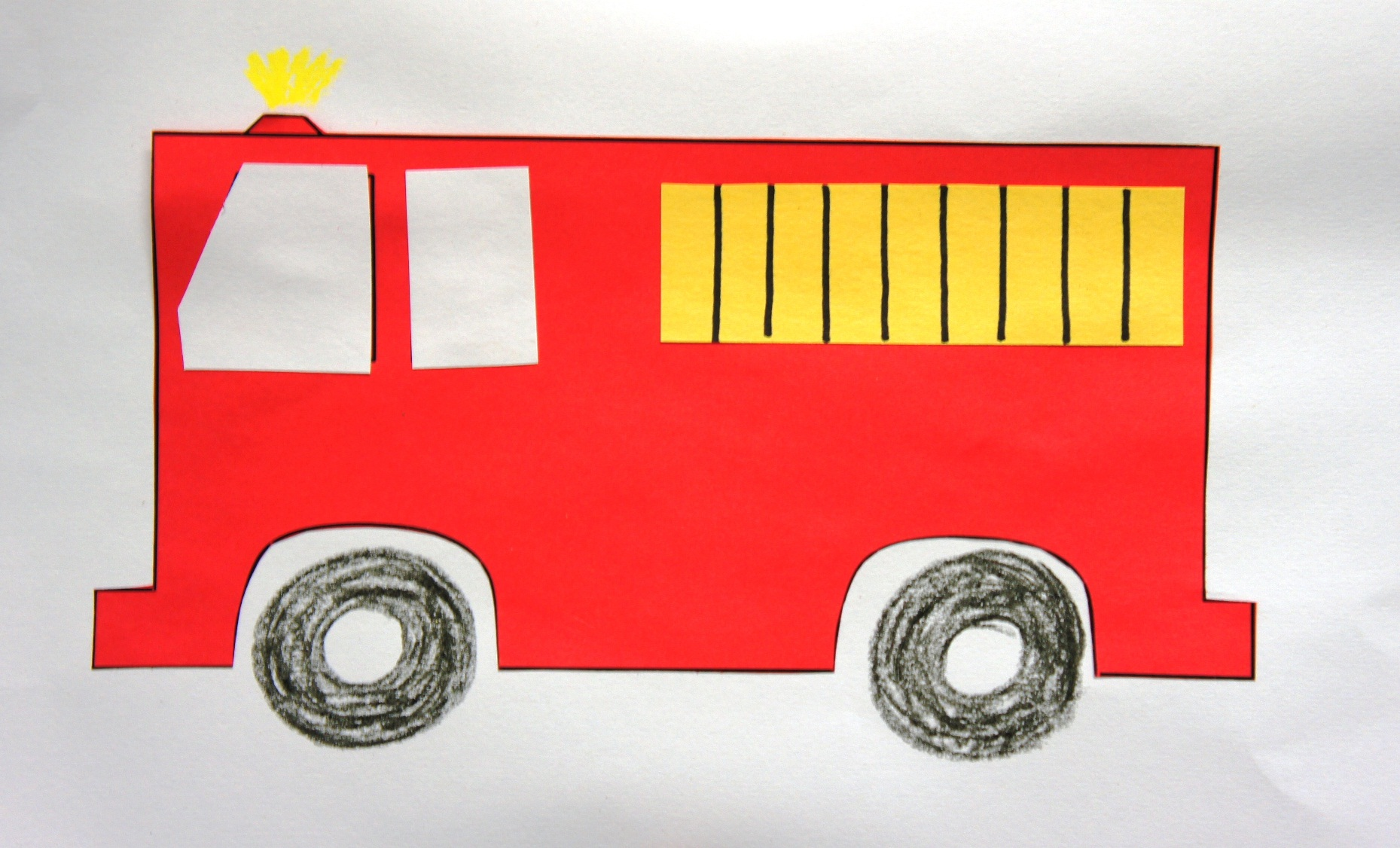 Art And Craft Fire Engine