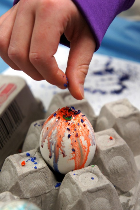 Sunflower Storytime: Melted Crayon Easter Eggs