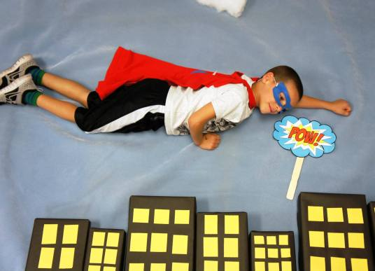Superhero Photo Booth, Sunflower Storytime