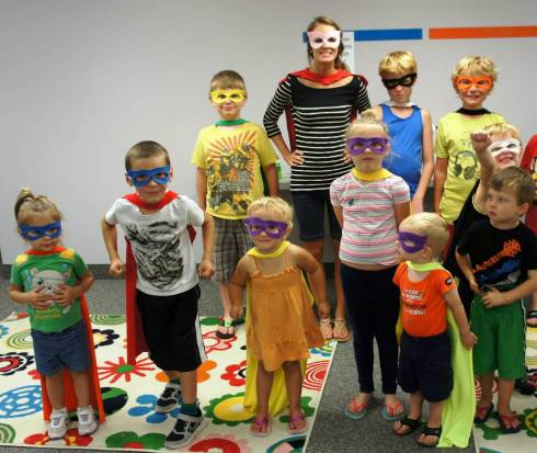 Superhero Library Program, Sunflower Storytime