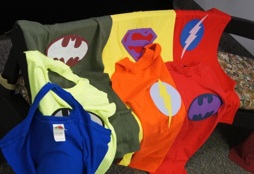 Superhero Capes made from Tshirts, Sunflower Storytime