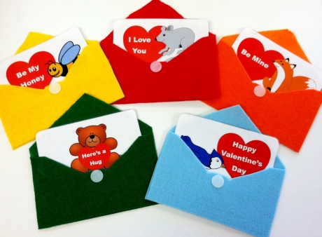 Six Little Valentines Flannel