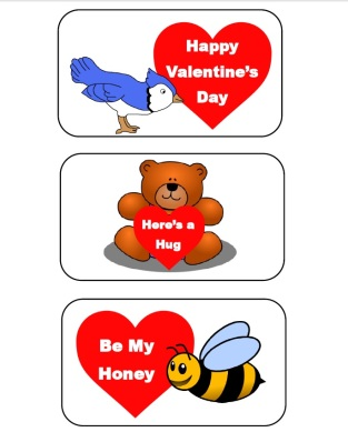 Six Valentines Printable