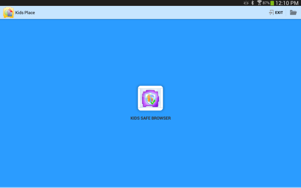 Kids Safe Browser Home Screen