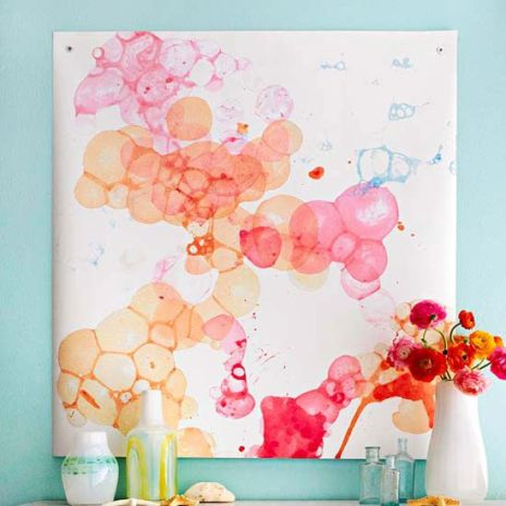Watercolor Wall Art - Picture and Instructions found at bgh.com