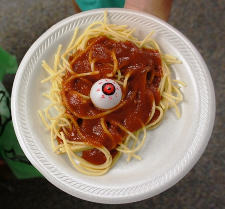 Brains Spaghetti from Sunflower Storytime