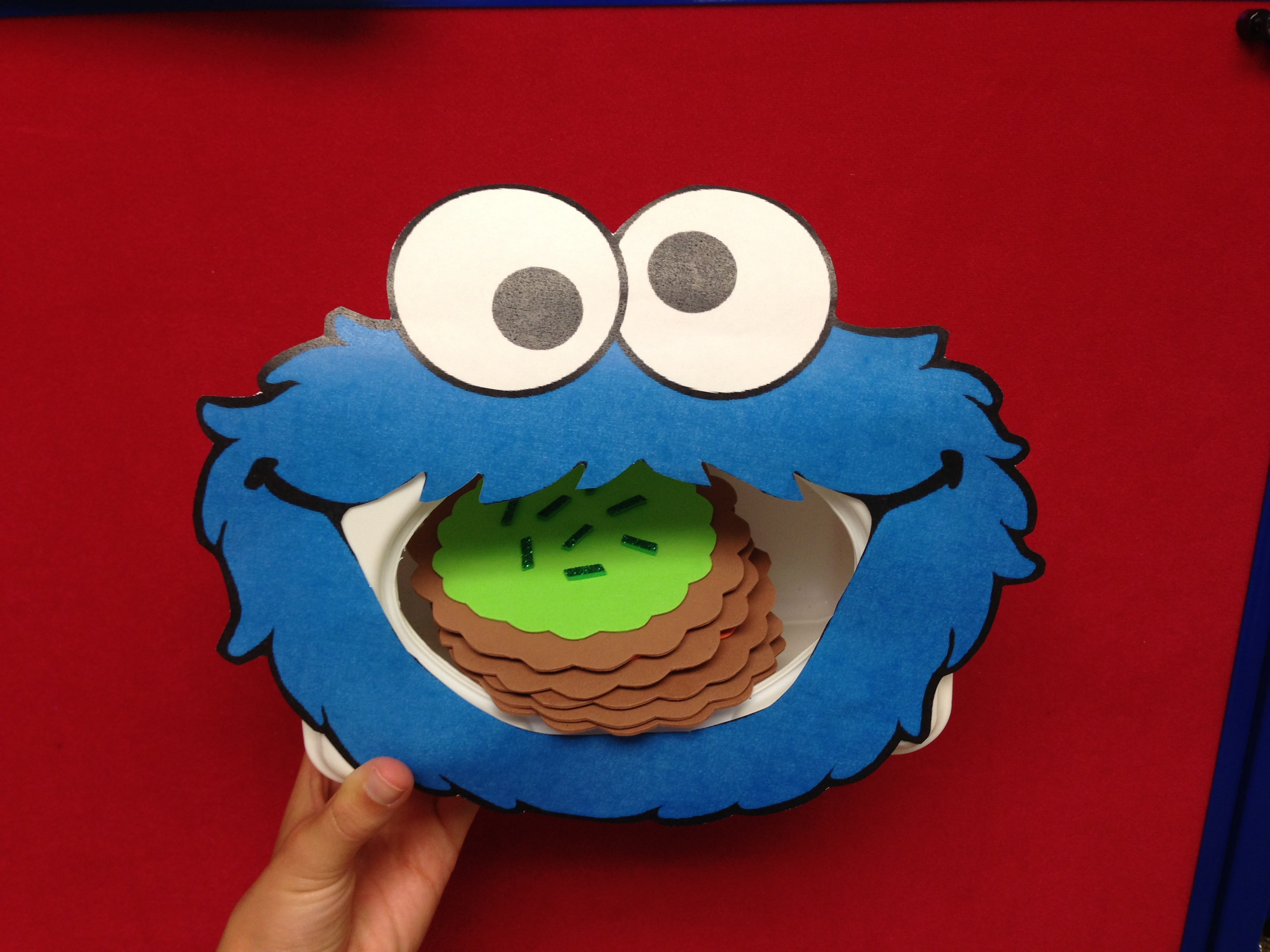 photograph about Printable Cookie Monster Face identified as Milk Cookies Sunflower Storytime