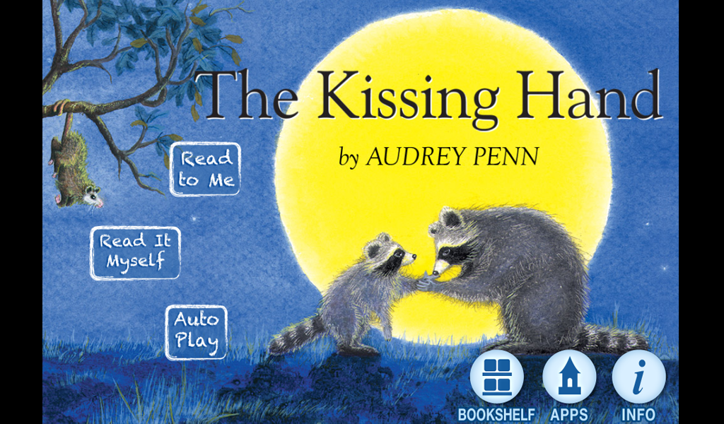 Sassy image in kissing hand printable book