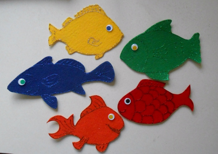 Five Little Fish - Template and Rhyme