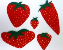 Five Ripe Strawberries
