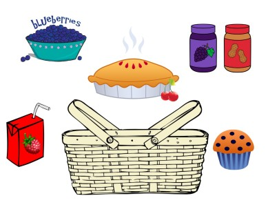 Going on a Picnic Berry clipart