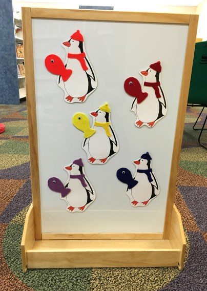 Penguin color matching activity board